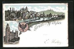 Lithographie Wetzlar, Ansicht Vom Dom, Panoramablick Auf Den Ort - Wetzlar