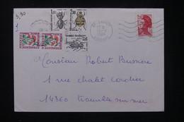 FRANCE - Taxes De Trouville / Mer Sur Enveloppe De Brunoy En 1984, à étudier - L 80456 - Lettres Taxées