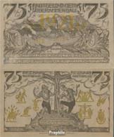 Oberammergau Notgeld: 992 Notgeldschein Der Gemeinde Oberammergau Bankfrisch 1921 75 Pfennig Oberammergau - Andere