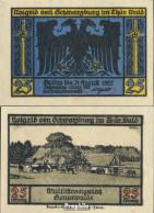 Schwarzburg Notgeld: 1208.2 Notgeldscheine Der Stadt Schwarzburg/Thüringen Bankfrisch 1922 25 Pfennig 2. Wildfütterung - Andere