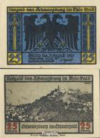 Schwarzburg Notgeld: 1208.2 Notgeldscheine Der Stadt Schwarzburg/Thüringen Bankfrisch 1922 25 Pfennig 1. Schwarzburg - Andere