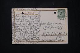 ALLEMAGNE - Affranchissement De München Sur Carte Postale En 1924 - L 80463 - Storia Postale