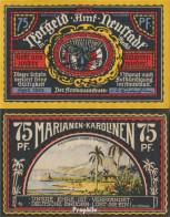 Neustadt Notgeld: 961.2 Bild 4 Marianen/Karolinen Bankfrisch 1922 75 Pfennig Neustadt Amt - Andere