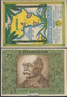 Berlin Notgeld: 88.3 Bild 6 Von Bismarck Notgeld Bankfrisch 1921 75 Pfennig Berlin Dt.-Hanseatisch - Andere