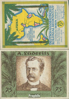 Berlin Notgeld: 88.3 Bild 4 A. Lüderitz Notgeld Bankfrisch 1921 75 Pfennig Berlin Dt.-Hanseatisch - Andere