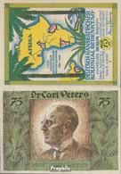 Berlin Notgeld: 88.3 Bild 3 Dr. Carl Peters Notgeld Bankfrisch 1921 75 Pfennig Berlin Dt.-Hanseatisch - Andere