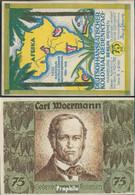 Berlin Notgeld: 88.3 Bild 2 Carl Woermann Notgeld Bankfrisch 1921 75 Pfennig Berlin Dt.-Hanseatisch - Andere