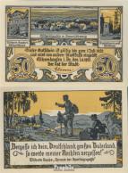 Eschershausen Notgeld: 351.1 50 Pf Notgeldschein Der Stadt Eschershausen Bankfrisch 1921 50 Pfennig - Andere