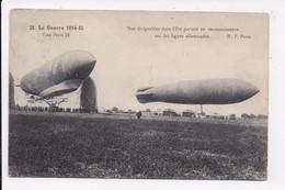 CP MILITARIA Nos Dirigeables Dans L'est Partant En Reconnaissace Sur Les Lignes Allemandes - Guerra 1914-18