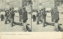 CARTE STEREO - Scènes Animées, Remailleurs De Filets (Marseille). - Pesca