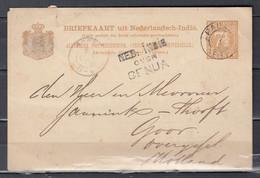 Briefkaart Uit Nederlandsch-Indie Van Padan Naar Goor Ned India Over Genua - Nederlands-Indië