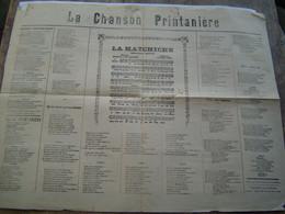 RECUEILS Et CHANSONS - LYON : LA CHANSON PRINTANIERE - Scores & Partitions