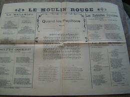 RECUEILS De CHANSONS PARTITIONS : LE MOULIN ROUGE - Scores & Partitions