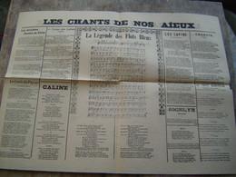 RECUEILS De PARTITIONS Ancien : LES CHANSONS DE NOS AIEUX - Scores & Partitions