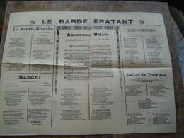 RECUEILS De CHANSONS PARTITIONS Ancien : LE BARDE EPATANT / IMPRIMERIE ITALIENNE - TUNIS - Scores & Partitions