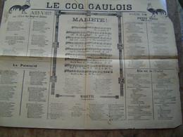 RECUEILS De CHANSONS PARTITIONS Ancien : LE COQ GAULOIS - Scores & Partitions