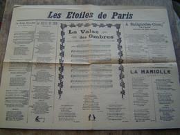 RECUEILS De CHANSONS PARTITIONS Ancien : LES ETOILES DE PARIS / IMPRIMERIE CHARLEROI ( BELGIQUE ) - Scores & Partitions