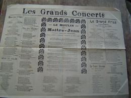 RECUEILS De CHANSONS PARTITIONS Ancien : LES GRANDS CONCERTS / IMPRIMERIE TOURNAI ( BELGIQUE ) - Scores & Partitions