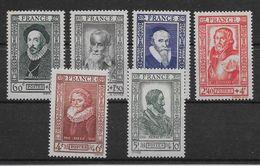 France N°587/592 - Neuf ** Sans Charnière - TB - Unused Stamps