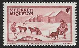 ST PIERRE ET MIQUELON  1938 -  YT  170 - Attelage - NEUF* - Unused Stamps