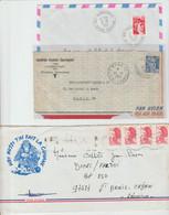 GUYANE 973: Lot De 3 LSC Entre 1952 & 81, Dont Mana & Maripasoula - 1921-1960: Modern Tijdperk