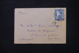 BELGIQUE - Enveloppe Pour La France En 1941 Avec Cachet De Contrôle - L 80499 - Cartas
