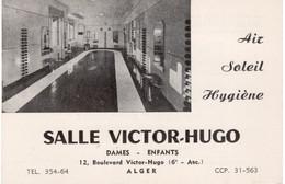 ALGER-CARTE PUBLICITAIRE SALLE VICTOR HUGO - Visiting Cards