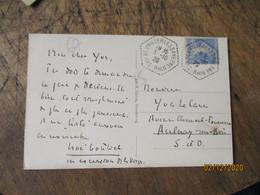 Neuwiller Les Savernes  Recette Auxiliaire Cachet Hexagonal Sur Lettre - 1921-1960: Modern Period