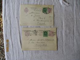 Espagne Espana Lot De  3 Tarjeta Postal 15 Violet Ajout Timbre Stationnery Card - 1850-1931