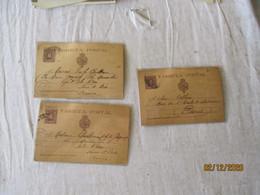 Espagne Espana Lot De  3 Tarjeta Postal 10 C  Marron Stationnery Card - 1850-1931