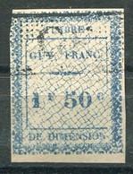 RC 19535 GUYANE FRANÇAISE TIMBRE FISCAL 1f50c DIMENSION ( VOIR DESCRIPTION ) - Used Stamps