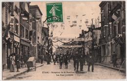 ETAIN-RECEPTION DU 8e BATAILLON DE CHASSEURS-LES RUES PAVOISEES - Etain