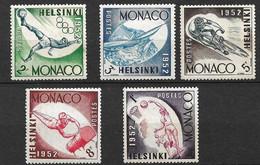 Monaco N°  386 à 390    Neufs *     B/TB   Soldé à Moins De 15 %         Le Moins Cher Du Site ! ! ! - Unused Stamps