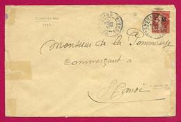 Enveloppe Datée De 1923 - Indochine - Viêt Nam - Tuyên Quang - Voyagée à Destination D'Hanoï - Brieven En Documenten