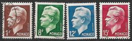 Monaco N°  345 à 348  Oblitérés     B/TB   Soldé à Moins De 15 %         Le Moins Cher Du Site ! ! ! - Used Stamps
