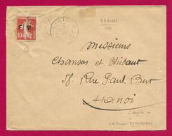 Enveloppe En Franchise Datée De 1922 - Indochine - Viêt Nam - Hà Giang - Voyagée à Destination D'Hanoï - Brieven En Documenten