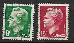 Monaco N°  346 Et 348  Oblitérés     B/TB   Soldé à Moins De 15 %         Le Moins Cher Du Site ! ! ! - Used Stamps