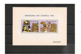 ANDORRE JEUX OLYMPIQUES DE BARCELONE ANNÉE 1992 BLOC N° Y/T : 1** - Unused Stamps