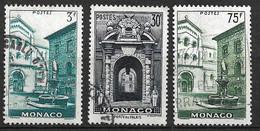 Monaco N°  369 ; 370 Et 398 Oblitérés    B/TB   Soldé à Moins De 15 %         Le Moins Cher Du Site ! ! ! - Used Stamps