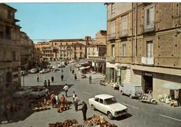 LAMEZIA TERME (CALABRIA)- Piazza Sacchi - Mercto Delle Ceramiche (auto FIAT) - Pubblicità MOTTA - Lamezia Terme