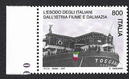 Italia 1997; Esodo Degli Italiani Dall' Istria, Fiume E Dalmazia, Bordo Sinistro. - 1991-00: Mint/hinged