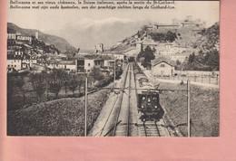 OUDE POSTKAART ZWITSERLAND - SCHWEIZ -  TREIN - TRENO - GOTTARDO - BELLINZONA - TI Ticino
