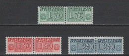 (S1473) ITALY, 1966 (Parcel Post Authorized Delivery Stamps). Complete Set. Mi # PP15-17. MNH** - Postal Parcels