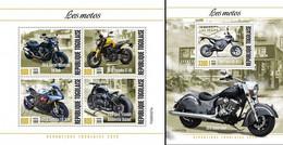 Togo 2020, Motorbyke, 4val In BF +BF - Motos