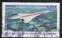 FRANCE 2019 - 50E ANNIVERSAIRE DU PREMIER VOL DU CONCORDE OBLITERE  YT PA 83 - 1960-.... Matasellados