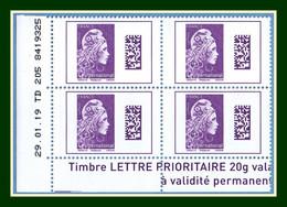 Coin Daté Marianne Engagée 2019 ** MNH International Validité Permanente - 2010-....