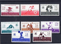 ##(DAN212)-THAILAND  THAILANDE 1966 -  5th Asian Games Bangkok 1966   Set 4 Vals   MNH** - Thaïlande