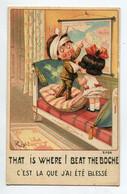 ILLUSTRATEUR 0188 RIGHT  Petit Soldat Anglais Blessé Montrant La Carte C'est La  écrite En 1918 - Right