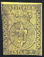1852 PARMA 5 CENT. GIALLO N.1  USATO - USED - Parma