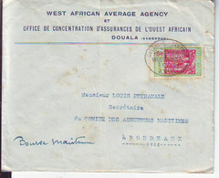 Lettre De Douala (Cameroun)  Pour Bordeaux 1931 - Lettres & Documents